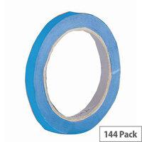 Vinyl Tape Bulk Pack 12mm Blue Pack of 144