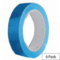 Vinyl Tape Regular Pack 24mm Blue Pack of 6