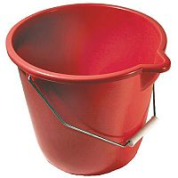 Plastic Bucket Red Pack of 4