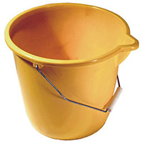 Plastic Bucket Yellow Pack of 4