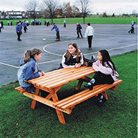 Wooden Picnic Bench Junior 6 Seater