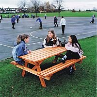 Wooden Picnic Bench Junior 8 Seater