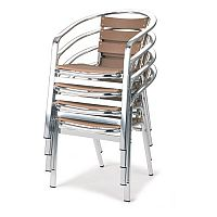 Slatted Cafe Furniture Armchair