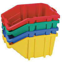 Large Storage Bin Complete With Opening Lid Sold Singly Choice Of Four Colours Blue