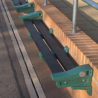 Recycled Plastic Wall Mounted Bench Emerald