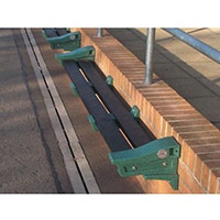 Recycled Plastic Wall Mounted Bench Sandstone