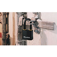 Laminated Steel Padlock W50mm Shackle Dia10xH51mm
