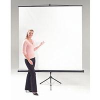 Budget Tripod Portable Projector Screen HxW 1500x1500mm