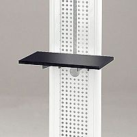 LCD And Plasma Mobile Stand Shelf Black