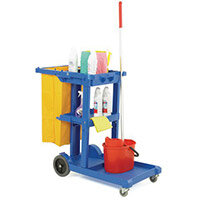 Multi-Purpose Cleaning Trolley Complete With Bag Blue