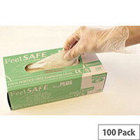 Powder Free Vinyl Disposable Gloves Size M Pack of 100