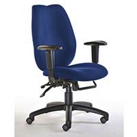 Deluxe Ergonomic High Back Task Operator Office Chair Blue - Weight Tolerance: 140kg