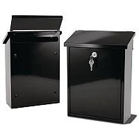 Liffey Rear Access Post Box Black