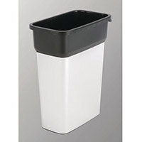 Vileda Geo Range Recycling Compact Slim Bin 55L Metallic/Black Without Lid