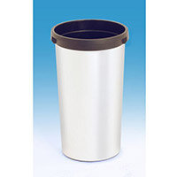 Vileda Iris 50L Round Bin Base Metallic & Black Without Lid