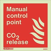 Photoluminescent Fire Fighting Equipment Notices Manual Control Point HxW 150x150mm