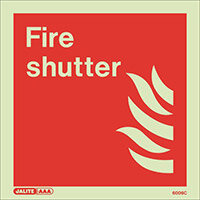 Photoluminescent Fire Fighting Equipment Notices Fore Shutter HxW 150x150mm