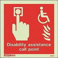 Photoluminescent Disability Assistance Fire Call Point