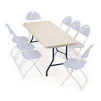 Polyfold Lightweight Rectangular Folding Table 1524mm