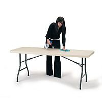 Polyfold Lightweight Fold In Half Table with Carry Handle