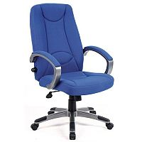 High Back Fabric Managers Office Chair Blue