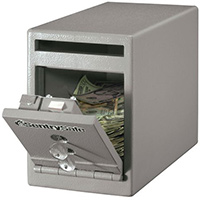 Under Counter Deposit Safe 7L Grey Two Key Lock