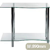 Modern Clear Glass Home Office Workstation Ice Light