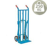 Three Way Truck Blue With Rubber Wheels Capacity 250kg 354877