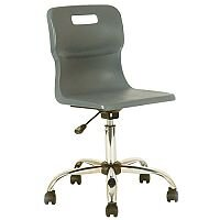 Titan Junior Polypropylene Swivel Chair Charcoal T30