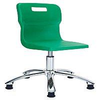 Titan Junior Polypropylene Swivel Chair Green T30