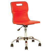 Titan Junior Polypropylene Swivel Chair Red T30