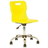 Titan Junior Polypropylene Swivel Chair Yellow T30