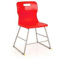 Titan Polypropylene Chair 445mm Red T60