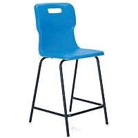 Titan Polypropylene High Chair 560mm Blue T61
