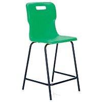 Titan Polypropylene High Chair 560mm Green T61