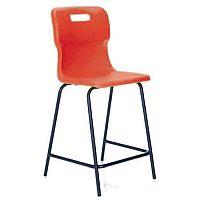Titan Polypropylene High Chair 560mm Red T61