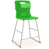 Titan Polypropylene High Chair 610mm Green T62