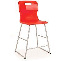 Titan Polypropylene High Chair 610mm Red T62