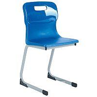 Titan Reverse Cantilever Chair 350mm Blue T80