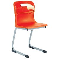 Titan Reverse Cantilever Chair 430mm Red T82