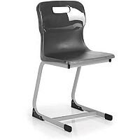 Titan Reverse Cantilever Chair 460mm Charcoal T83