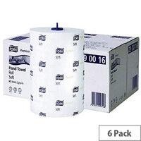 Tork Matic Soft Paper Hand Towels Roll 100m White (6 Rolls) 290016