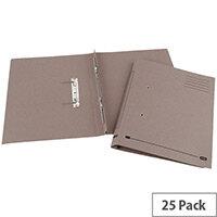 Transfer Spring File Recycled Foolscap Buff 35mm Pack 25 Elba Spirosort