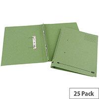 Transfer Spring File Recycled Foolscap Green 35mm Pack 25 Elba Spirosort