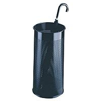 Umbrella/Waste Bin Perforated Black 28.5 Litres 310251