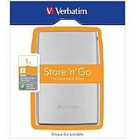 Verbatim 1TB USB 3.0 External Hard Drive Silver