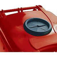 Wheelie Bin 240 Litre with Bottle Bank Aperture and Lid Lock Red 124563