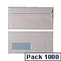 Envelopes DL Window Self Seal White (Pack of 1000)