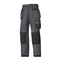 Snickers 3213 Craftsmen Holster Pocket Trousers Rip-Stop Steel Grey/Black
