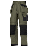 Snickers 3214 Craftsmen Holster Pocket Trousers Canvas+ Olive Green/Black